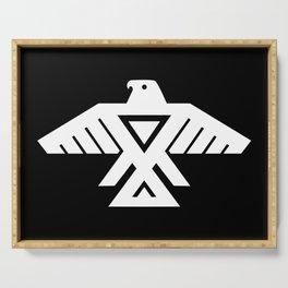 Thunderbird flag - Inverse version Serving Tray