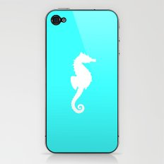 Seahorse teal iPhone & iPod Skin