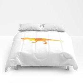 Tiranosaurus rex in orange mix colors Comforters