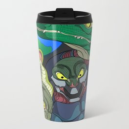 3 Reptilian Earth Metal Travel Mug