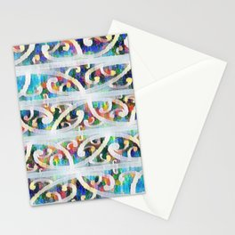 Ethnic Blues Stationery Cards