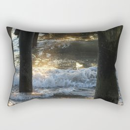 Dancing Sunlight under the Pier Rectangular Pillow