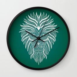 Lion Bee Manuality Green Wall Clock