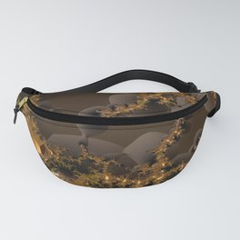 Organic Explosion of Chocolates - Fractal Golden Lava Fanny Pack