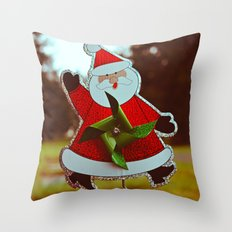 Santa greetings Throw Pillow