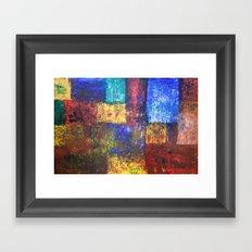 blocks of color Framed Art Print