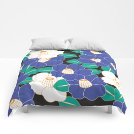 Shades of Tsubaki - Lavender & Black Comforters