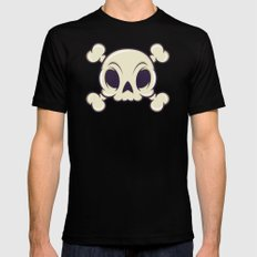 Skull Mens Fitted Tee Black 2X-LARGE