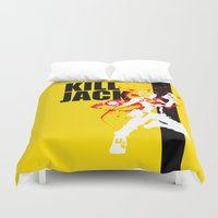 borderlands Duvet Covers featuring KILL JACK - SIREN by Resistance