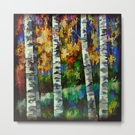 Enchanted Forest with Birch Trees  Metal Print