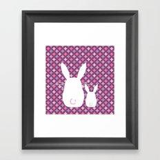 Bunny / Vintage pattern #3 Framed Art Print