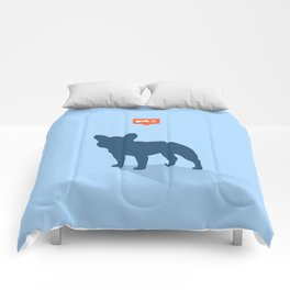 Frenchie Expectations - Baby Blue Comforters