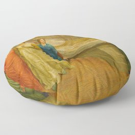 Henry Holiday - Dante And Beatrice Floor Pillow