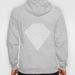 Abstract [BLACK-WHITE] Emeralds pattern Hoody