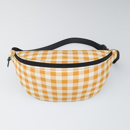 Gingham Orange and White Pattern Fanny Pack