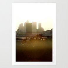 LA sunshine Art Print