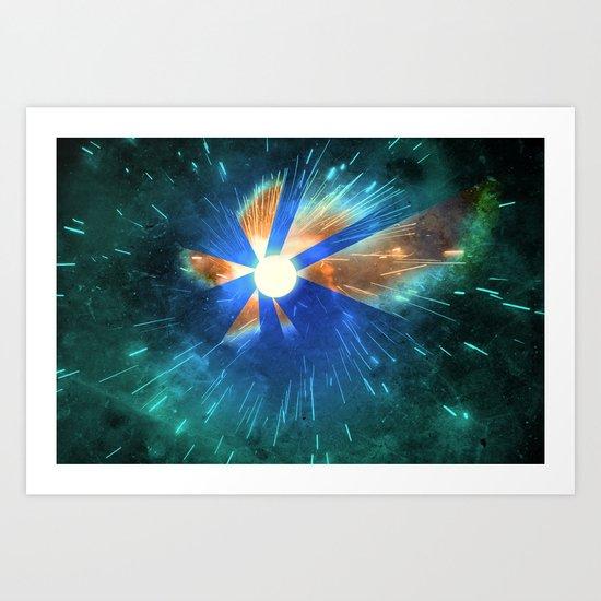Light Flares Art Print