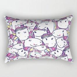 a lot of unicorns Rectangular Pillow