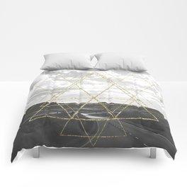 Gold Glitter Sacred Geometry Comforters