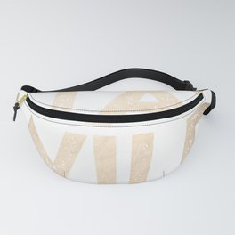 Stay Wild White Gold Quote Fanny Pack