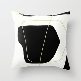 Black and White Scandinavian Abstract Art Throw Pillow