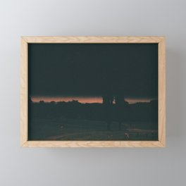 A Picnic At The End Of The World, Manchester Framed Mini Art Print