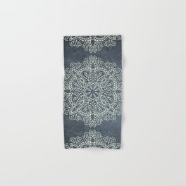 Mandala Vintage Ivory Blue Hand & Bath Towel