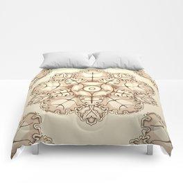 Beige elegant ornament fretwork Baroque style Comforters