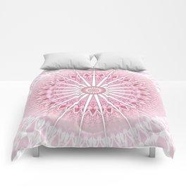 Dusky Pink Mandala Comforters