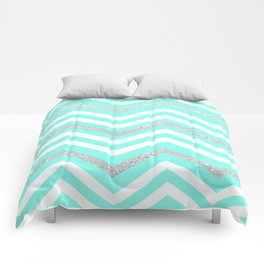 Turquoise Sparkle Comforters