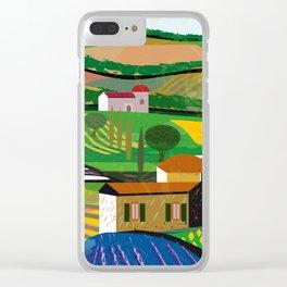 Green Fields Clear iPhone Case