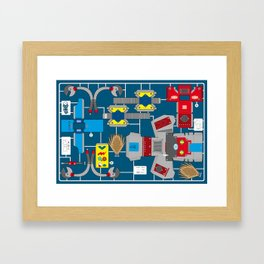 Papertoy Framed Art Print