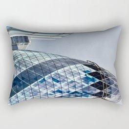 London Gherkin Abstract Rectangular Pillow