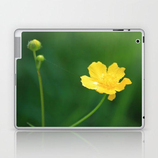 Swamp Buttercup Wildflower Laptop & iPad Skin