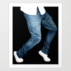 blue jeans on  Art Print