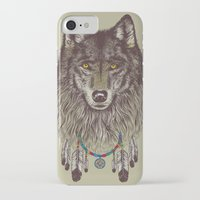 catcher in the rye iPhone & iPod Cases featuring Wind Catcher Wolf by Rachel Caldwell