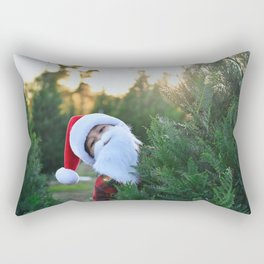 Santa Claus Is Coming To Town Rectangular Pillow
