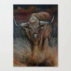 The Texas Longhorn Bull Canvas Print