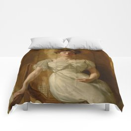 "John Collier ""Portrait of The Hon. Mrs Harold Ritchie"" Comforters"