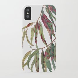 A touch of red - watercolour of eucalyptus branch iPhone Case
