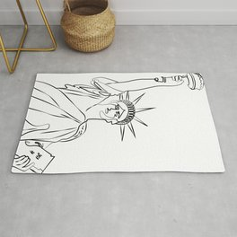 America Statue of Liberty USA Rug