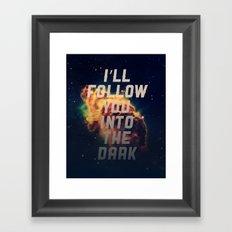 Into the Dark Framed Art Print