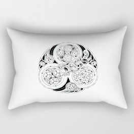 BBC Merlin: In Spite of Everything, the Stars (Dragon Triskelion tattoo) Rectangular Pillow