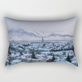 Icy Mountains in Reykjavik Rectangular Pillow