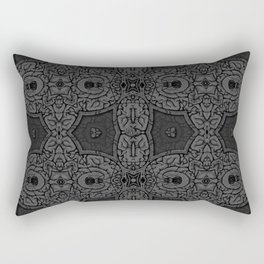 Brain. Mad Witch craft etching. Vintage pattern. Rectangular Pillow