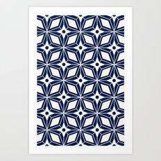 Starburst - Navy Art Print