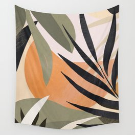 Abstract Art Tropical Leaves 2 Wall Tapestry