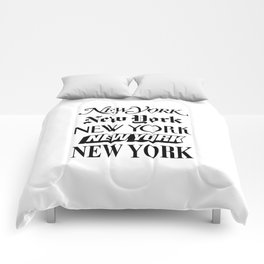 I Heart New York City Black and White New York Poster I Love NYC Design black-white home wall decor Comforters