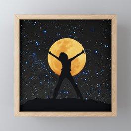 Super moon in November 2016 Framed Mini Art Print