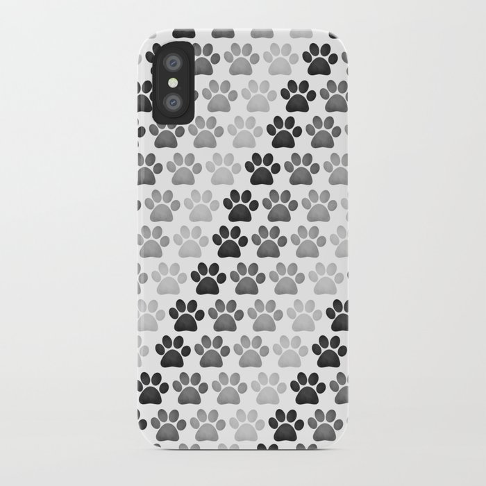 premium selection 5e09e 69c20 Paw Prints Pattern iPhone Case by avenger